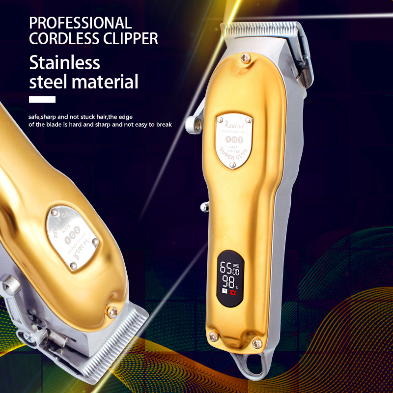 Hair Trimmer Professional Hair Clipper cordless outliner Beard Barber Shop Rechargeable Hair Cutting Machine can be zero gap
