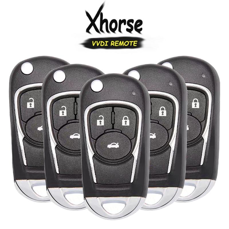 KEYECU 5x XKBU03EN (английская версия) Универсальный 3 кнопки дистанционного ключа брелок для ключа VVDI VVDI2