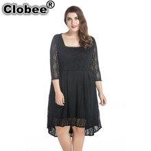 Beach robe femme ete Spring Summer Elegant Vintage Lace Clothing Party Dress Plus Size Women Clothing 5XL 6XL 7XL Vestidos