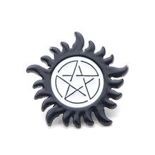 Supernatural SPN punk Zinc alloy tie pins badges para shirt bag clothes cap backpack shoes brooches medal decorations E0370