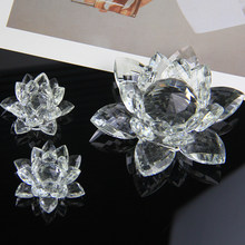 60mm 80mm 100mm etc Crystal Lotus Swan Glass Ornament colors Red Character Town Paper Feng Shui Collection Ornament Decoration