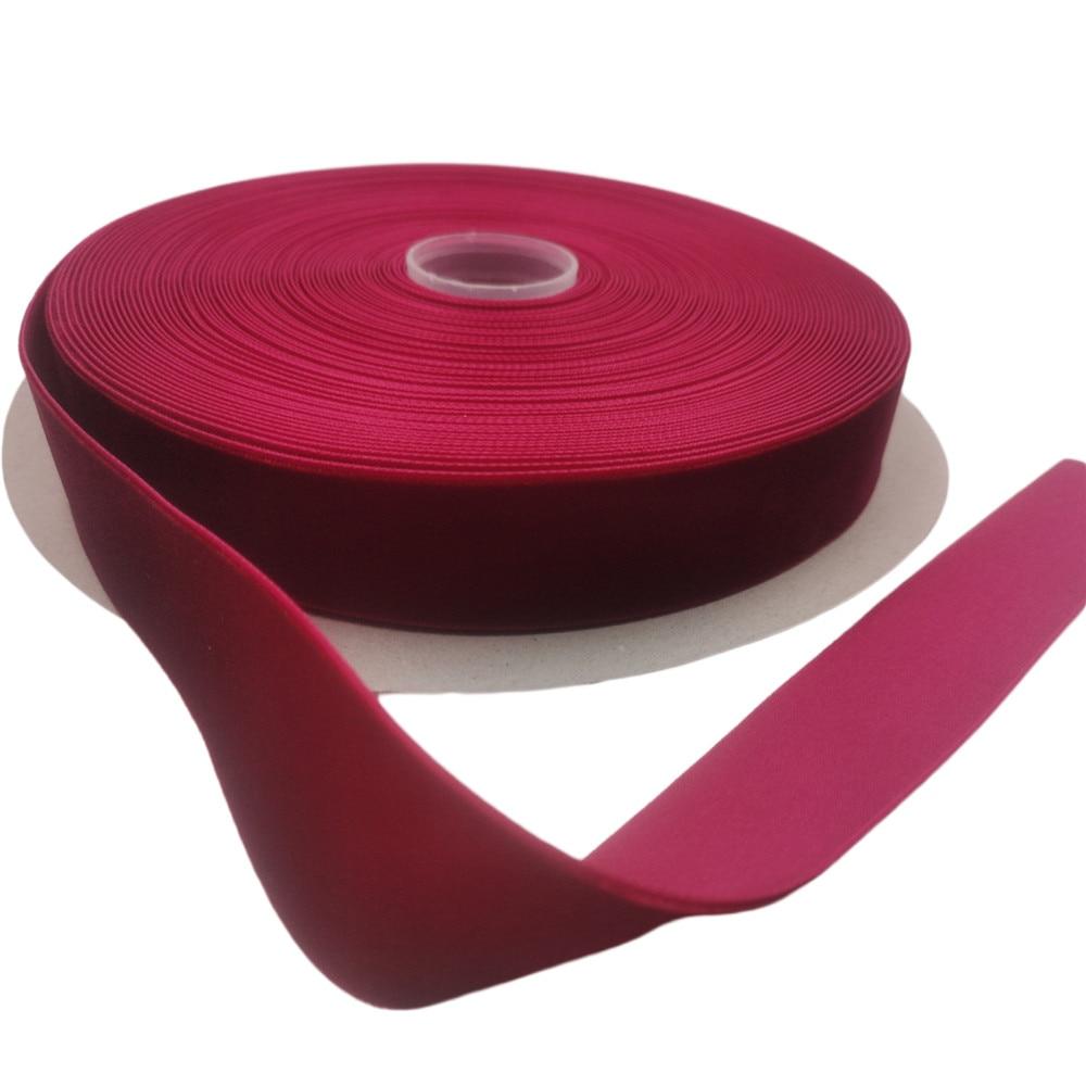 25 мм X 25 ярдов, нейлоновая бархатная лента для вина, односторонняя лента для упаковки подарков ручной работы, украшение для домашвечерние, Ро...