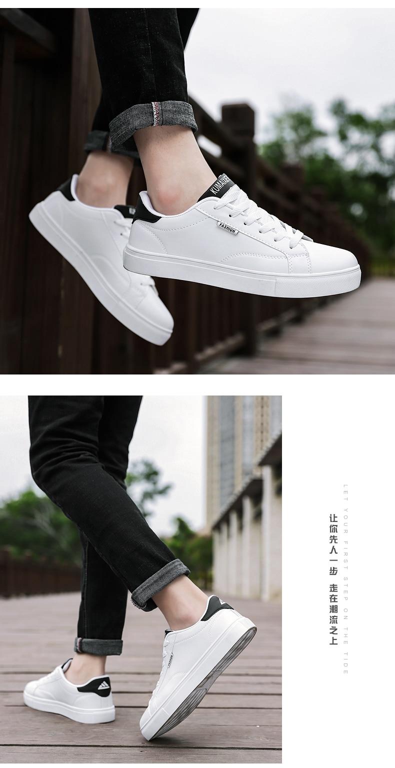 Sólido branco vulcanizado sapatos homem confortável tênis