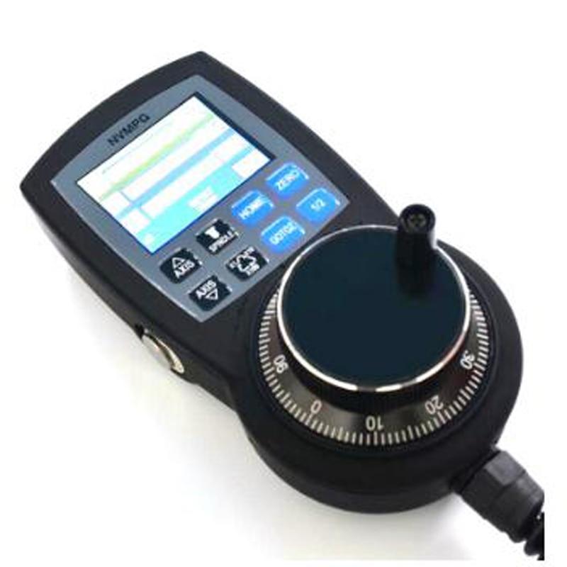 CNC 6 Axis Handwheel Mach3 MPG Pendant Manual Pulse Generator NVMPG Hand Wheel Serial Communication With LCD Display