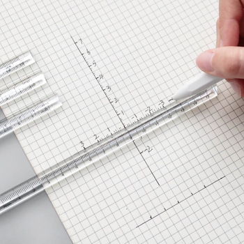 15cm Transparent Straight Ruler Students Stationery Simple Triangular Rulers Kids Scale on Both Sides Acrylic Measuring Tools - discount item  24% OFF Drafting Supplies