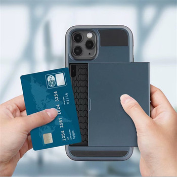 Wallet Card Slots For iPhone 12 Shockproof Cover Shell