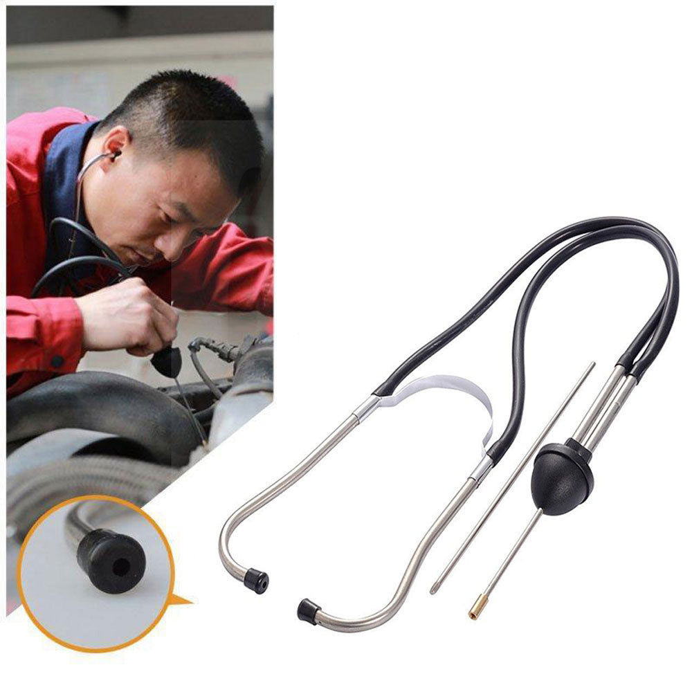Mechanics Cylinder Stethoscope Car Engine Block Diagnostic Automotive Hearing Tools Anti-Shocked Durable Chromed-Steel #D