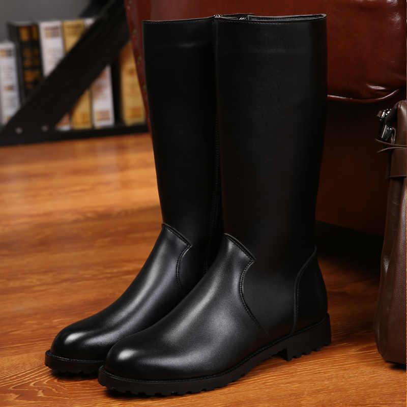 Moipheng haute qualité bottes d'équitation cuir synthétique polyuréthane noir Cool chaussures bout pointu mince Sexy mi-mollet Botas femme automne femmes chaussures