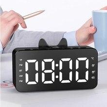 Speaker Alarm-Clock Fm-Radio Music-Player Table Temperature Bluetooth Dual-Alarms Digital