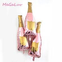 Ballons Champagne 36 pouces, 3 pièces, décorations de fête d'enterrement de vie de jeune fille, en aluminium or Rose, 18e 21e 30e 40e 50e anniversaire