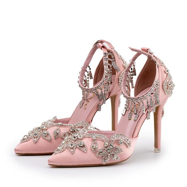 Bride Shoes Luxury Design Glittering
