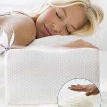 Ортопедическая подушка с памятью для боли в шее и защиты шеи, медленно восстанавливающая Память Пена, подушка для здоровья, шейный чехол для...