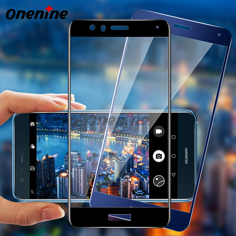 Onenine 4D Carving 3D Curved Phone Screen Protector For Huawei P10 P10 Lite P10 Plus 2017 Tempered Glass Full Cover Protective