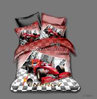 Factory Effex Racing Car Bedding Set Boys Gift Bedroom Decor 100% Microfibe Soft 1PC Duvet Cover with Pillowcases No Comforter