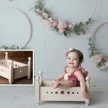 40cm Mini Newborn Baby photo props Wood bed Retro Nostalgia Old Furniture Crib Infant Posing Shoot Accessory Sofa Chair Kid Toy
