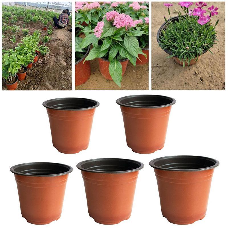 1pcs Flower Pot Plastic Plant Desktop Green Vase Plant Vegetation Soft Nursery Garden Vase Flowers Tools House Home Pots To B9M1