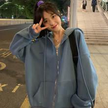 Корейские толстовки для женщин винтажные женские с длинным рукавом