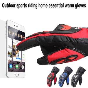 Image 3 - Распродажа, новые мотоциклетные перчатки, зимние теплые водонепроницаемые перчатки для спорта на открытом воздухе, лыжного спорта, мотоцикла, мотокросса, гоночного велосипеда