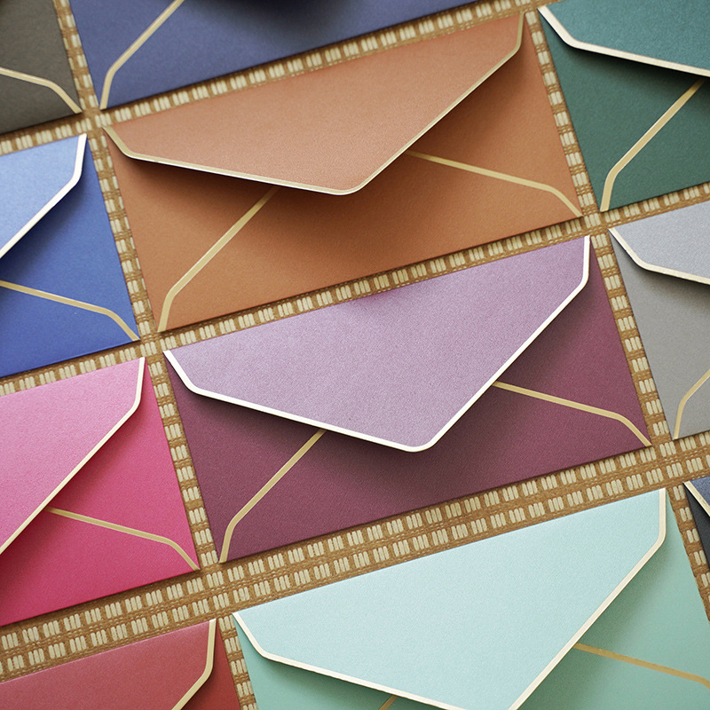40 Pcs/lot Pearl Paper Is Gold-plated On All Sides Paper Envelopes Cute Envelope For Card Scrapbooking Gift