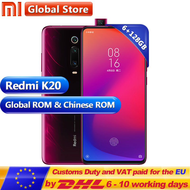 Global Rom Xiaomi Redmi K20 6GB 128GB Mobilephone Snapdragon 730 48MP Rear Camera Pop up Front