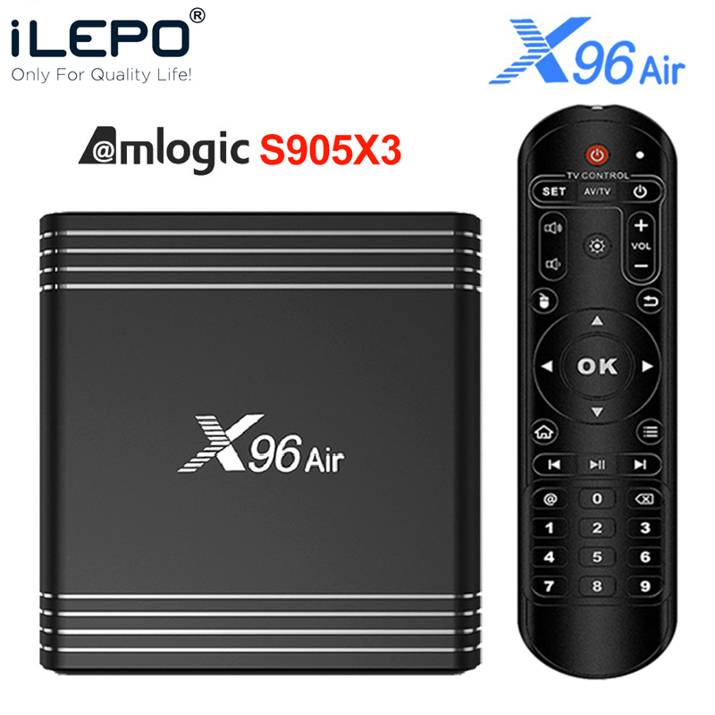ILEPO X96 Air Amlogic S905X3 Android 9.0 TV BOX 4GB 64GB 32GB wifi 4K 8K 24fps netflix 2GB16GB Set Top Box PK X96 mini
