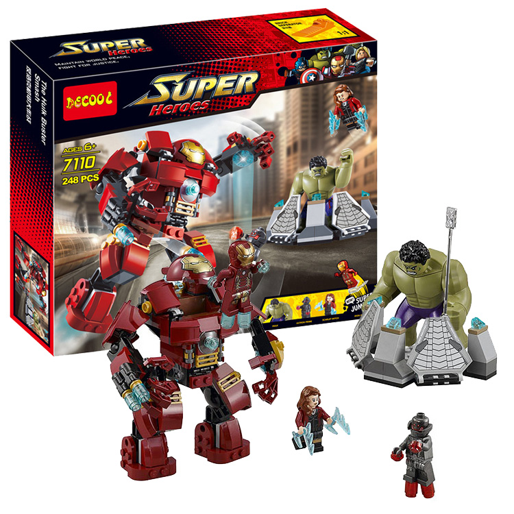 Decool Marvel Hulkbuster Super Heroes 7110 248pcs 76031 Avengers Building Blocks Bricks Toys For Children Gift