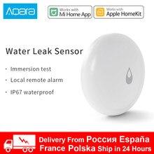 Sensor de inmersión de agua Xiaomi Aqara, Detector de fugas de agua por inundación para el hogar, alarma remota, Sensor de remojo de seguridad que funciona con puerta de enlace