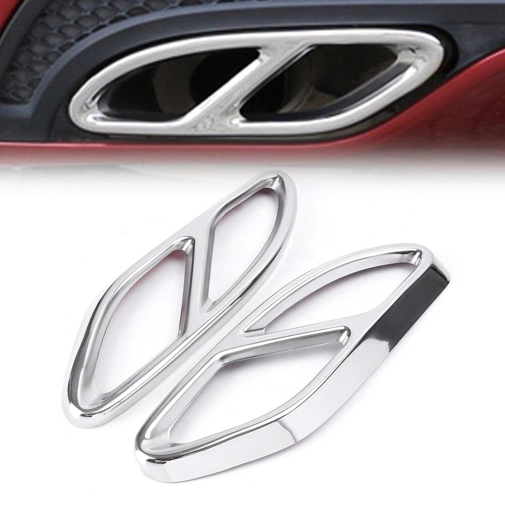 1 takım krom oto araba arka silindir egzoz borusu kapağı Mercedes Benz A /B /E /GLE GLC GLC sınıfı W166 W176 W205 W212 W213