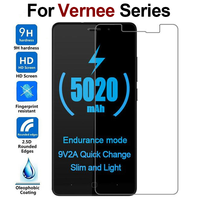9H 2.5D Tempered Glass Vernee M3 M5 M6 X1 X2 Mix 2 Mars Pro Thor E Screen Protector For Vernee V2 Pro Thor Plus Protective Film