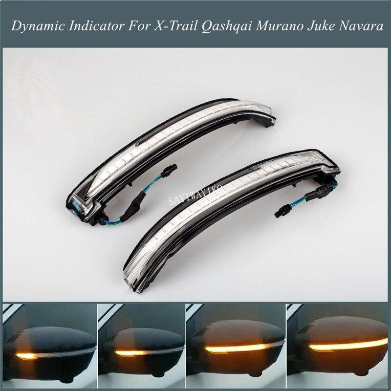 Pour Nissan x-trail T32 Rogue Qashqai J11 Murano Z52 Juke Navara Pathfinder LED clignotant dynamique rétroviseur latéral