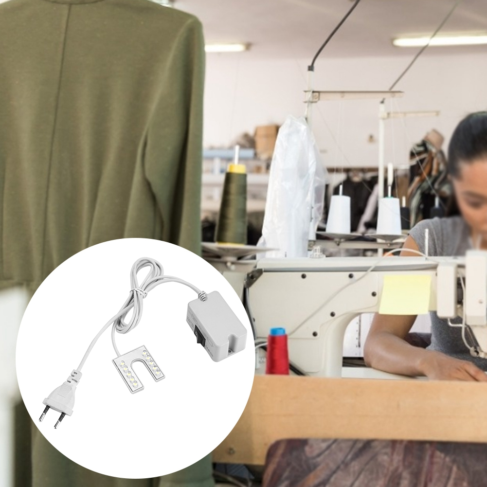 Sewing Machine Led Clothing Lights Lighting Work Lights Energy-Saving Lamps With Magnets Industrial Lights 10LED EU Plug
