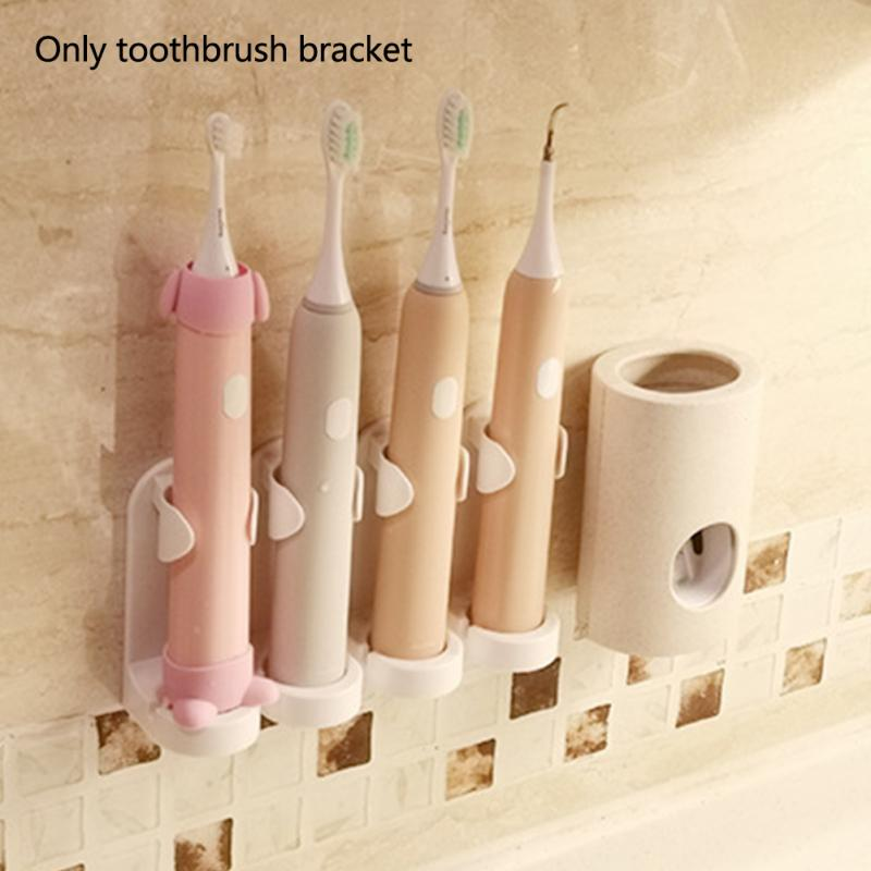 Bathroom Rack Electric Toothbrush Holder Space Saving Organizer Punch Free Detachable Wall Mounted Easy Clean Traceless Stand image