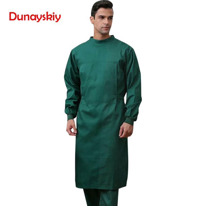 NEW Long Surgical Surgeon Gown Medical Clothing Reinforced Protective Gown With Sterile Wraparound Reusable Wrap Around Gowns