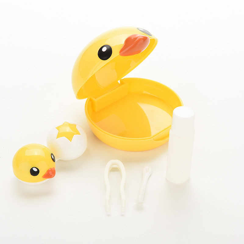 Hot Leuke Mini Cartoon Plastic Contact Lens Box Shape Contact Lens Travel Case Contact Lens Case