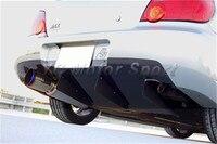 Car Accessories FRP Fiber Glass H Style Rear Diffuser Fit For 2004 2007 Subaru Impreza WRX 8 9 STI GDB Rear Diffuser Underboard