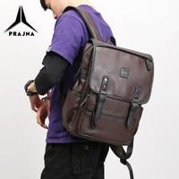 Man Backpack Laptop Fit 15.6 Inch Vintage Leather Backpacks Travel Bag Waterproof Bagpack Male Mochila Рюкзак Daypack PRAJNA
