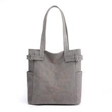 Korean version Simple retro large capacity women bag Canvas tote bag, women shopping bag hand bill of lading shoulder bag