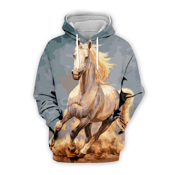 Tessffel Animal Horse art Unisex Colorful Casual Tracksuit Harajuku 3DfullPrint Zipper/Hoodies/Sweatshirt/Jacket/Mens Womens s-4 1