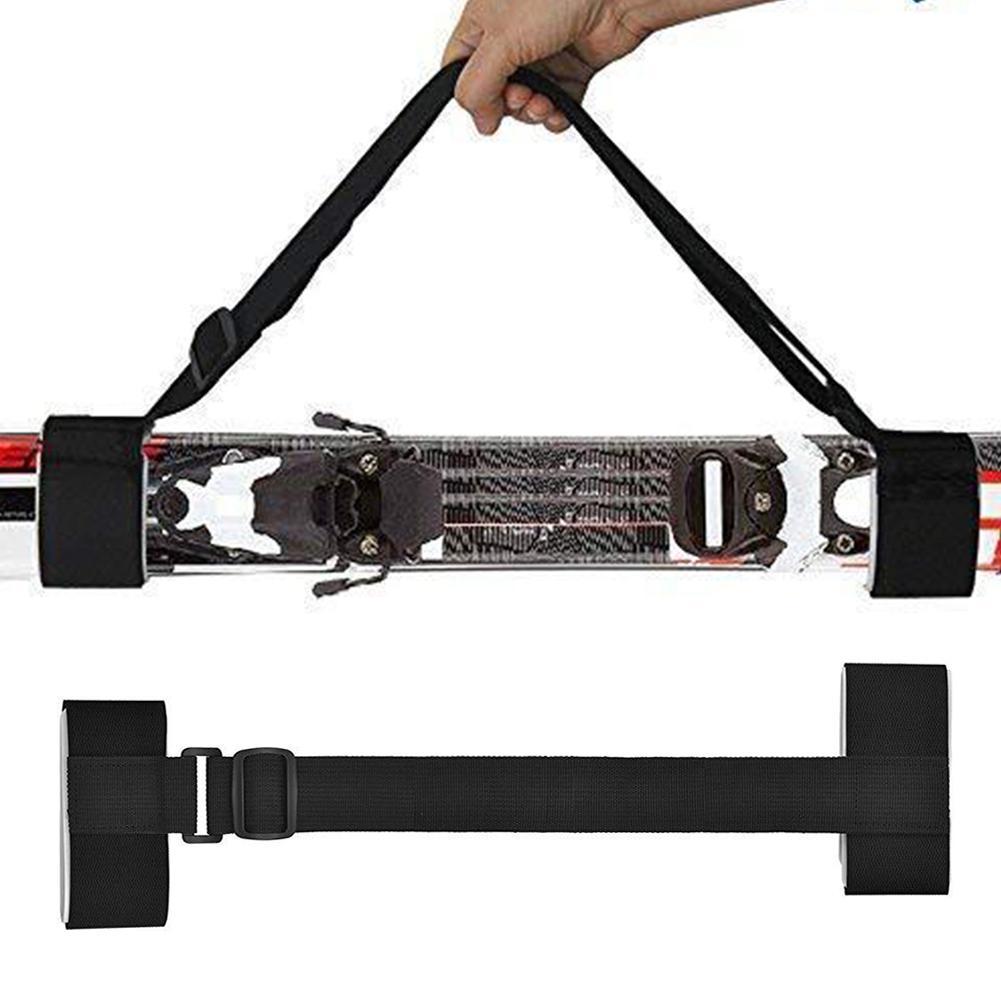 Adjustable Ski Board Fixing Strap Pole Shoulder Hand Bag Carrier Lash Holder Sling Mountain Skiing Ski Board Accessory