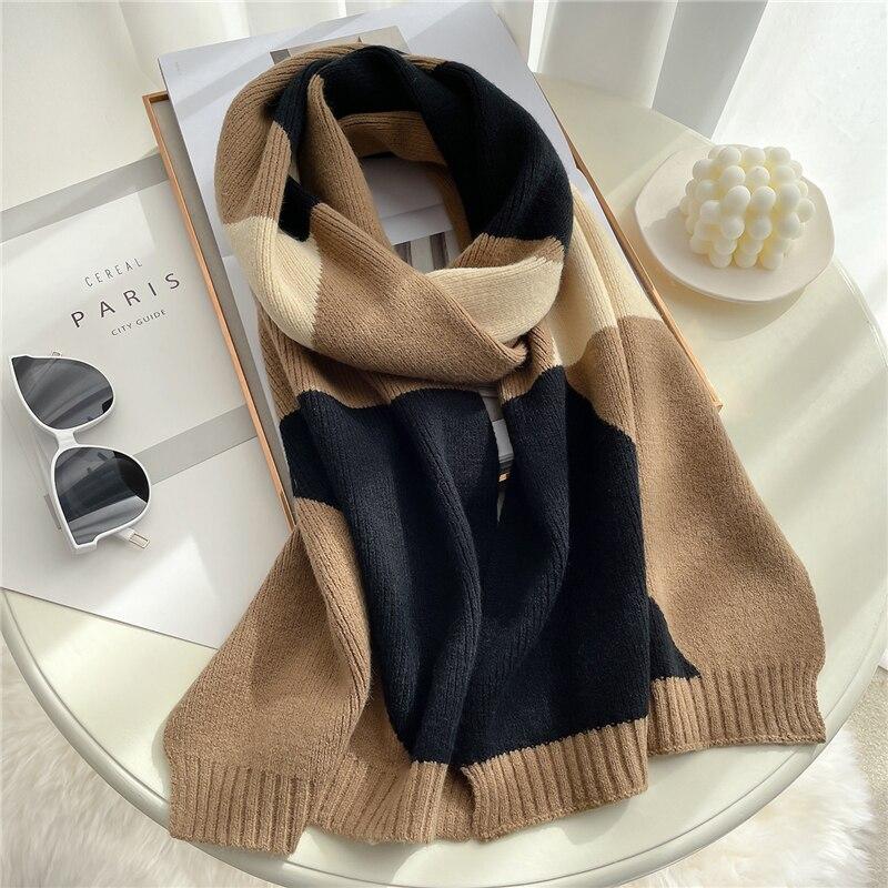 2021 вязанный длинный шарф для женщин 1