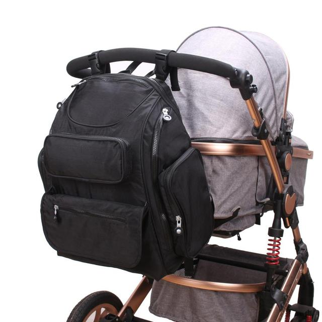 Large mother backpack diaper bag for baby stroller organizer mama mummy maternity nappy changing bags for mom babies travel | Happy Baby Mama