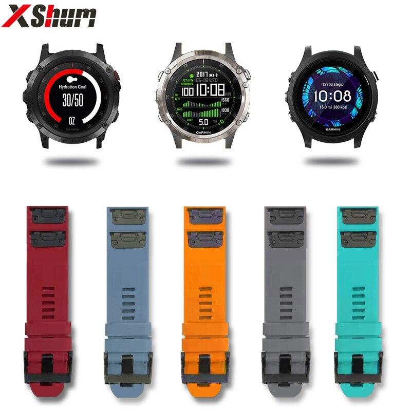Xshum Garmin Fenix 5 Plus Bracelet Strap For Garmin 935/945 Silicone Replacement Band 22mm Quick Release Watchband Accessories