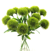 artificial flowers green real touch dandelion fake plants plastic flowers home decoration Length 25cm(China)