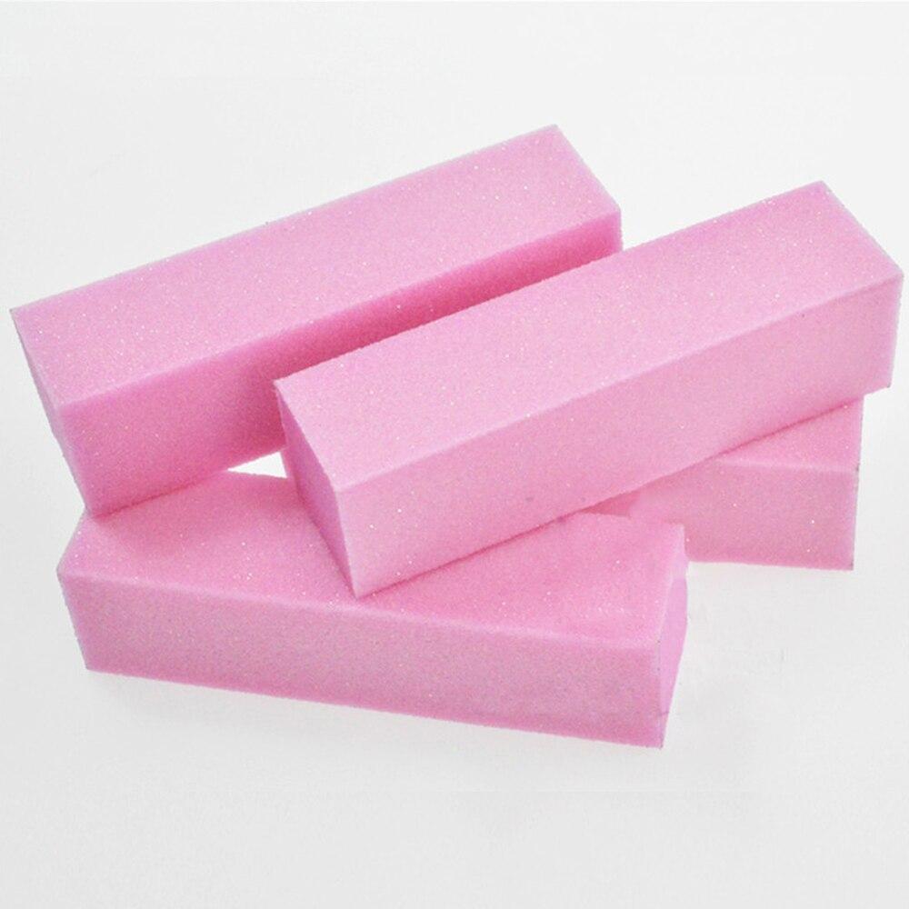 4pcs/set Pink Nail Art Buffer Sanding Block Buffs Professional Nail Files Polishing Tools Pedicure Manicure Accessories BETR05