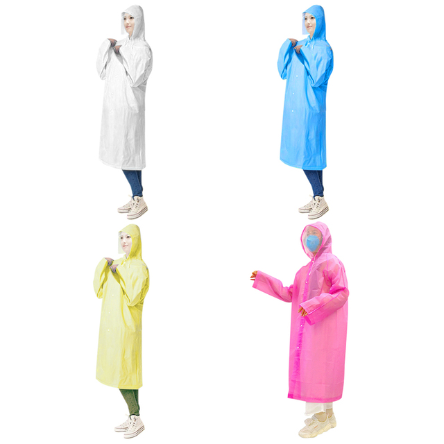 10PCS Disposable PPE Hoodies Raincoat Gown Dust-proof Isolation Clothes Suit Security Protection Clothing with Face Shield 1