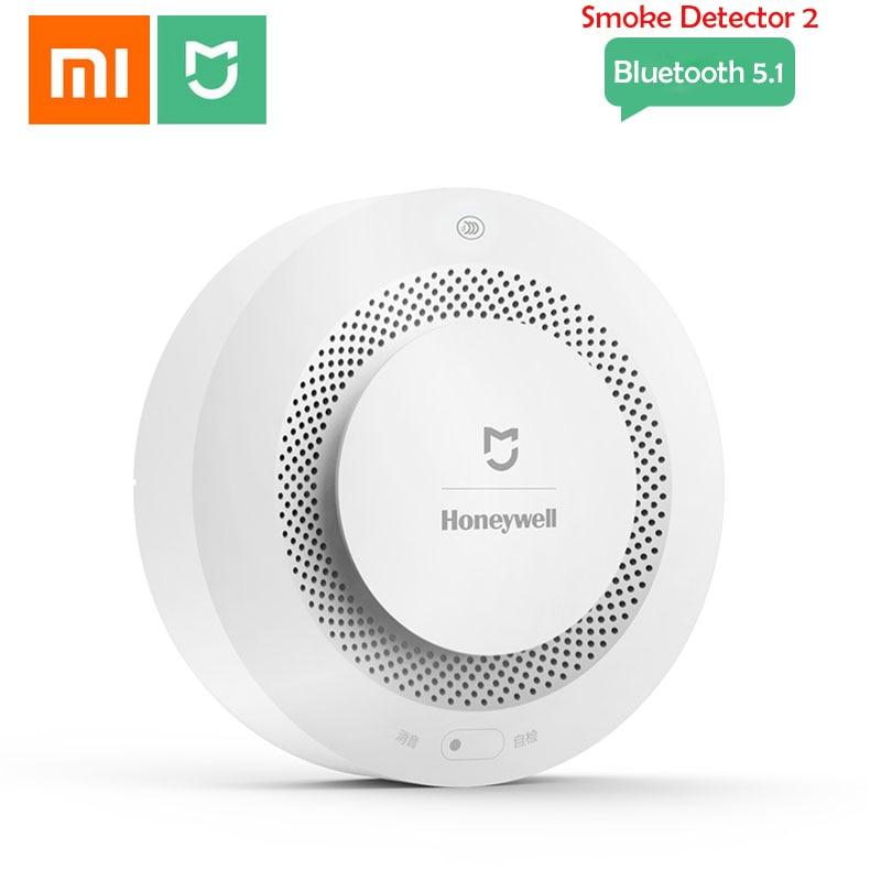 Датчик дыма Xiaomi Honeywell, звуковая и визуальная сигнализация Mijia с дистанционным управлением через приложение и Bluetooth