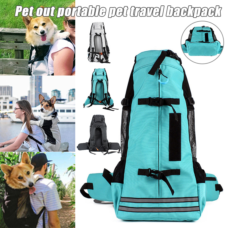 Pet <font><b>Backpack</b></font> Breathable Pet Dog Carrier Bag for Large Dogs Bulldog <font><b>Backpack</b></font> Adjustable Travel Bags UD88 image