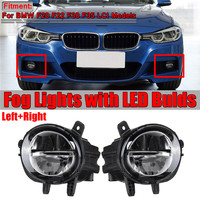 1 Pair Car Front LED Fog Light Fog Lamp DRL Driving Lamp For BMW F20 F22 F30 F35 LCI With LED Bulds 63177315559 63177315560