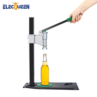 New Bench Bottle Capper,Professional Beer Bottle Capping Machine Manual Lid Sealing Adjustable Beer Bottle Capper with Long Base