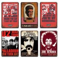 エルヴィス · プレスリージミ U2 ザッパ · ウィルソンメタルみすぼらしいシックな acdc 女王オアシス金属ヴィンテージ男洞窟パブのホーム装飾